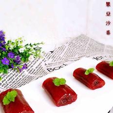 火龙果西米豆沙卷