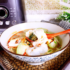 丝瓜荠菜肉馄饨