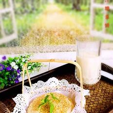 芝麻玉米糯米饼