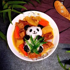 熊猫咖喱牛肉饭