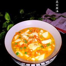 虫草花豆腐汤