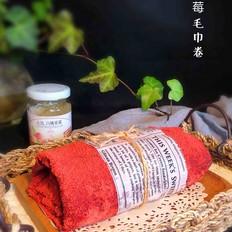 草莓毛巾卷丘比果酱