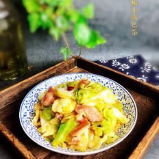 培根炒卷心菜