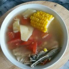 番茄玉米薯子汤