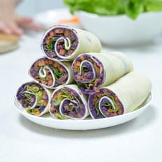 紫薯豆皮卷