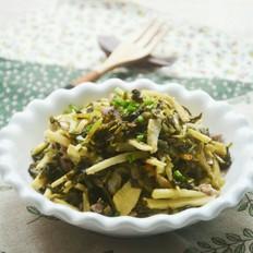 酸菜冬笋炒肉丝
