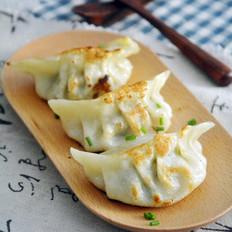 青菜鲜肉煎饺