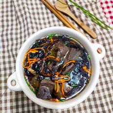 虫草花鸡血紫菜汤