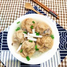 面筋酿肉粉丝汤