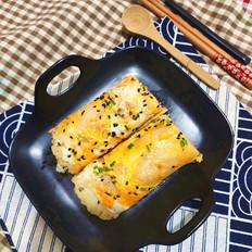 肉松芝麻蛋卷饼