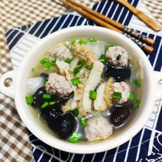 牛肚肉丸白菜汤的做法