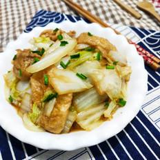 白菜焖面筋