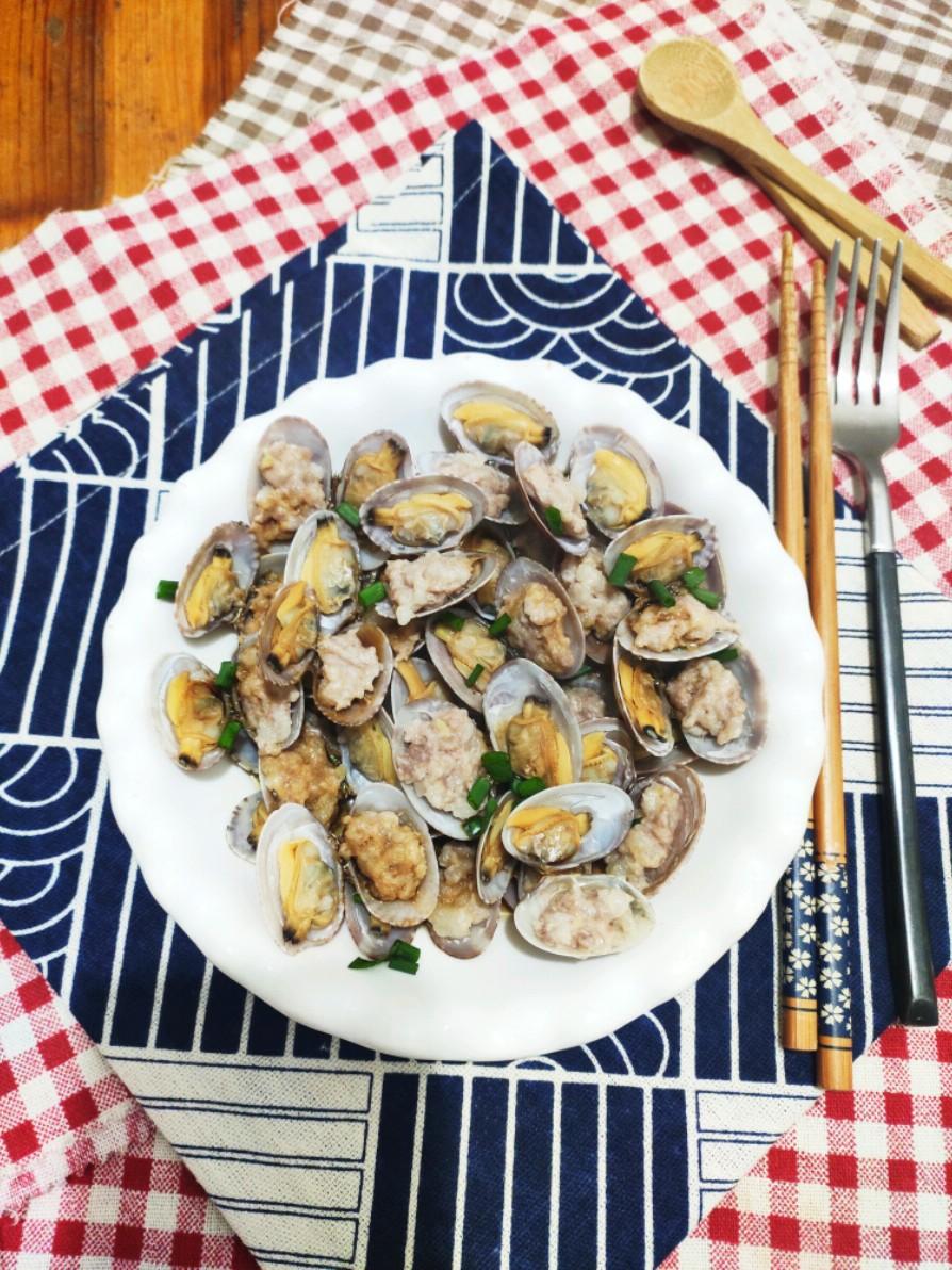 花蛤酿肉的做法