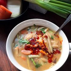 酸汤烩面鱼