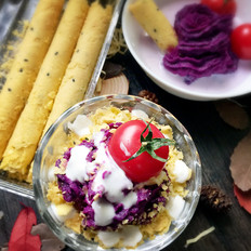 蛋酥紫薯泥