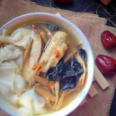 红枣枸杞鸡汤馄饨