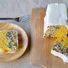 小森林 瓜黑米双色蛋糕