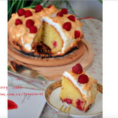 树莓橄榄油蛋糕