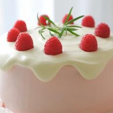 树莓奶油滴落蛋糕的做法