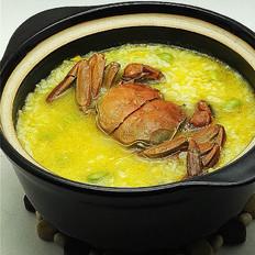 营养鲜香的毛豆香米蟹粥