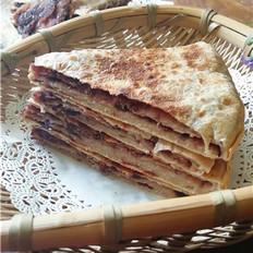 双麦豆沙千层饼的做法