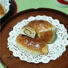 海苔肉松包的做法
