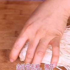 菜豆腐金针菇酸汤