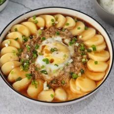 肉末玉子豆腐蒸蛋