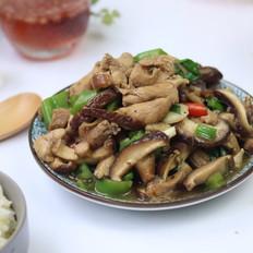 鸡腿肉炒香菇