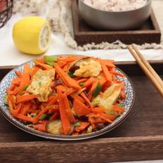 胡萝卜蘑菇炒鸡蛋