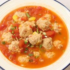 番茄鸡肉丸汤