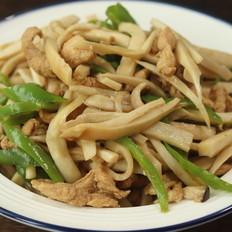 杏鲍菇炒鸡胸肉丝