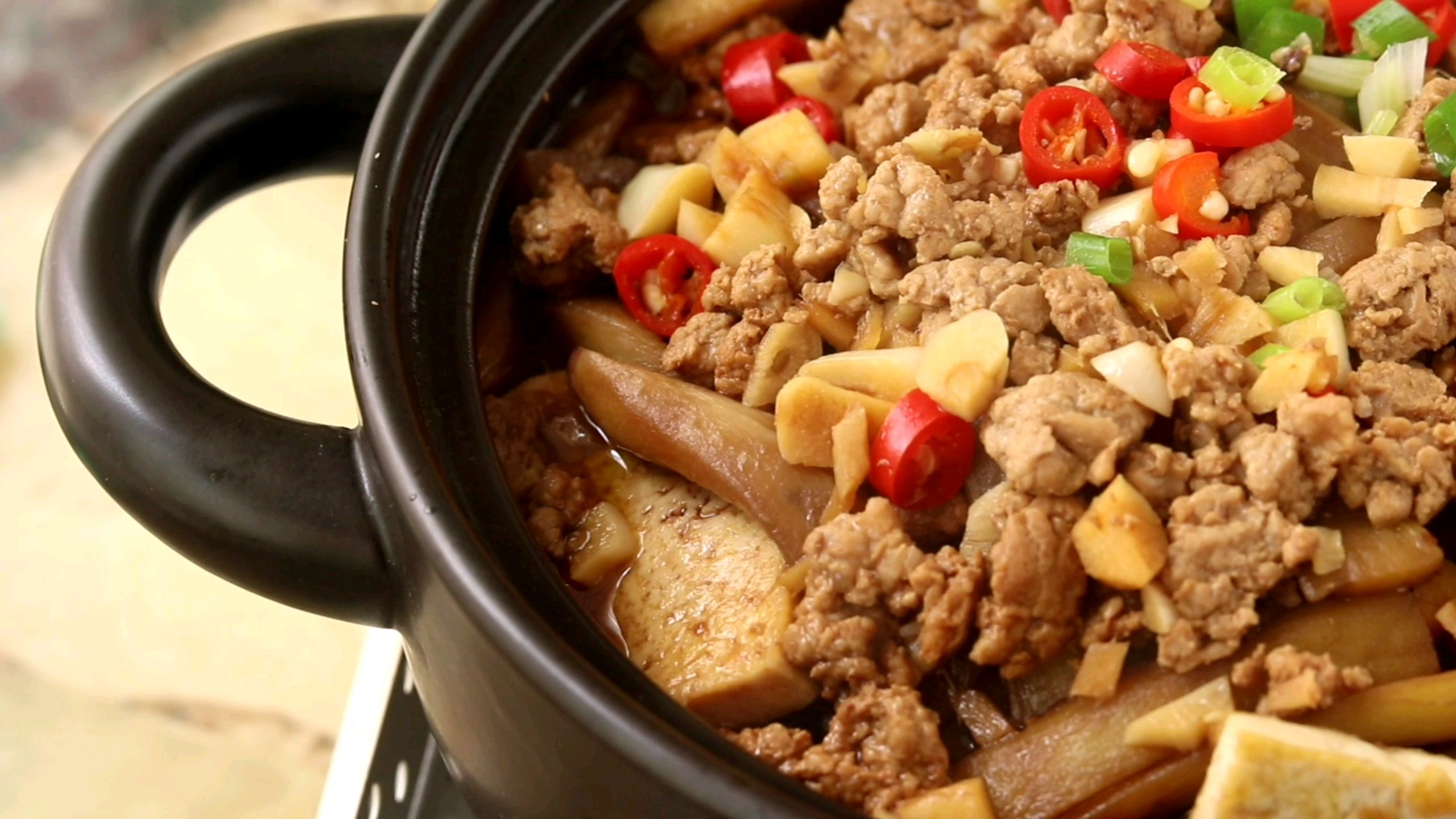 豆腐肉沫茄子煲