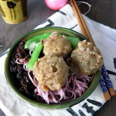 香菇酱拌紫薯面