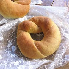 汤种扭花面包
