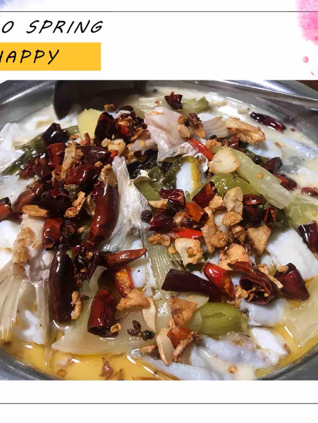 鲜香酸菜鲈鱼
