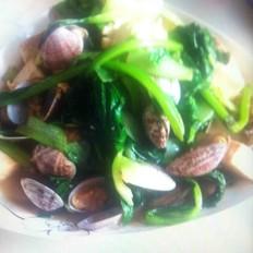 蔬菜蛤蜊炝豆腐