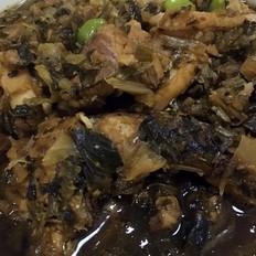 小咸菜毛豆红烧鱼