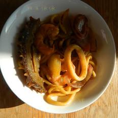 咖喱海鲜炒饭