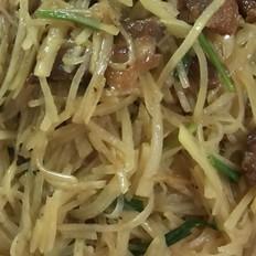 五花肉炒土豆丝