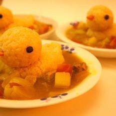 小鸭咖喱饭