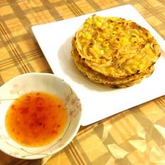 玉米虾烙的做法