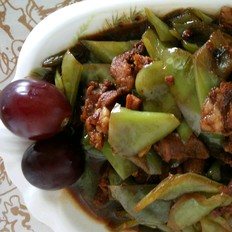 紫色下饭菜尖椒炒肉