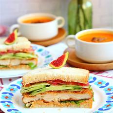 柏翠烤鸡排三明治VS鲜奶燕麦吐司