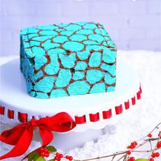 柏翠爱在北京:水立方蛋糕