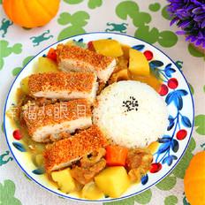 咖喱双拼饭