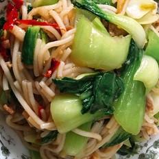 快手蔬菜炒米粉