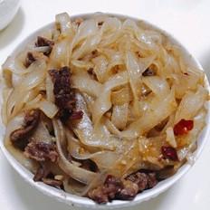 牛肉炒土豆粉
