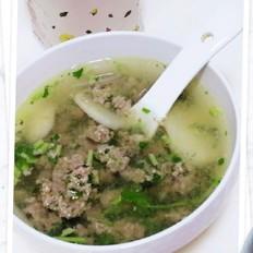 香菜肉沫汤