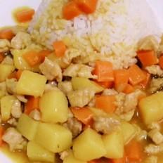 咖喱土豆炒肉碟头饭